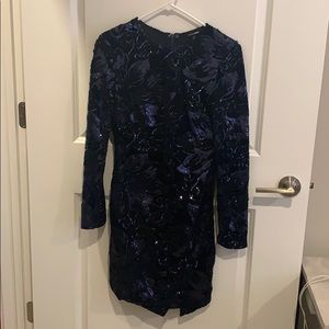 Navy Sequin midi dress only worn once